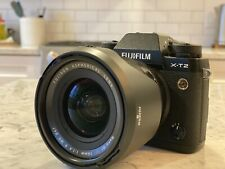 Fujifilm X series X-T2 24.0MP Digital SLR Camera - Black (Body + 16mm 1.4 Lens)