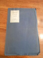 """""""Oxford Poetry"""" 1925. Includes Poems by Graham Greene"""