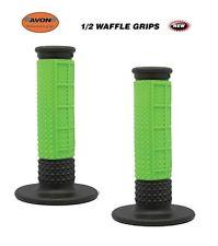 """Avon Grips 1/2 Waffle Motocross Dirtbike Twist Throttle 7/8"""" GREEN MX SCOOTER"""