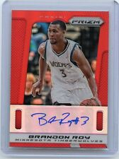 "2013-14 PRIZM #139 BRANDON ROY AUTOGRAPH ""RED REFRACTOR"" SP #7/10, TRAILBLAZERS"