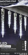 Gemmy LED LightShow Shooting Star White Icicle Lights Set of 10 NIB