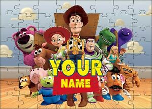 PERSONALISED TOY STORY 4 JIGSAW PUZZLE A4 120 PIECES