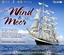 ANDY HÄCKEL - WIND UND DAS MEER: DIE SCHÖNSTEN SEEMANNSLIEDER  3 CD NEW+