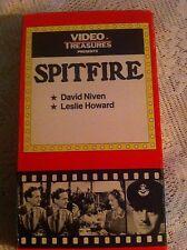 SPITFIRE, VIDEO TREASURES, DAVID NIVEN, LESLIE HOWARD, VHS 1934/85 BLACK & WHITE