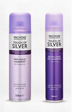 PROVOKE TouchOf Silver Firm HOLD HAIRSPRAY 250ml +REVITALISING DRY SHAMPOO 200ml