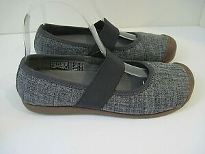 KEEN Gray Fabric Canvas Casual Slip On Mary Jane Shoes Flats Size 7M NWOB