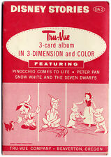 Vintage DISNEY STORIES TRU-VUE Set (1954) SEALED Pinocchio SNOW WHITE Peter Pan