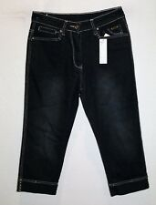 Cooper Jeans Company Brand Black Cropped Stretch Denim Jeans Size 10 BNWT #TP03