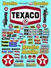 CLEAR VINYL  TEXACO Sticker Gang SHEET 16-R/C MODEL Decal 1/12-1/10-DIE CUT-LOSI