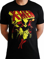 X-men Wolverine Distressed Official Marvel Avengers Mens Black T-shirt
