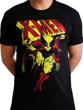 X-men Wolverine Distressed Official Marvel Avengers Mens Black T-shirt