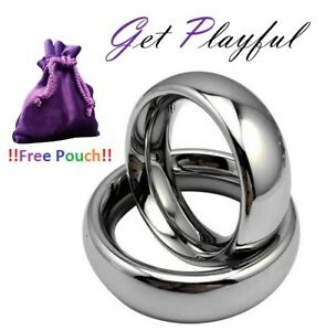 Solid Stainless Steel HIGH QUALITY heavy Metal Cock Ring Penis Ring 3 SIZES