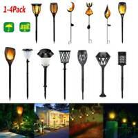 1/2/4x LED Solar Flame Light  Waterproof Outdoor Garden Yard Lawn Landscape Lamp
