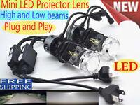 H4 CREE LED Projector lens headlight kit High Low Light Bulb Lamp 6000K vs Xenon