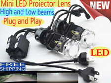 H4 CREE LED Projector lens headlight kit High Low Light Bulb Lamp 6000K vs Xenon