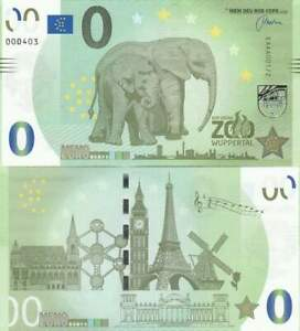 Biljet billet zero 0 Euro Memo - Der grune Zoo Wuppertal (061)