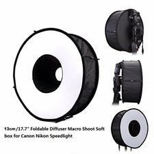 45CM Round Universal Flash Diffuser Foldable Softbox Camera Speedlight  Shoot