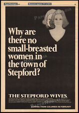 THE STEPFORD WIVES__Original 1974 advance Trade AD promo/ poster__KATHARINE ROSS