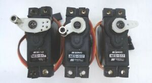 JR NES-517 STANDARD SIZE  SERVOS QUANTITY 3 + HORNS AND MOUNTS IN GOOD CONDITION