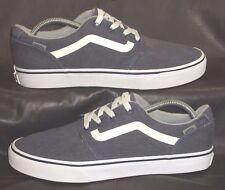 VANS blue gray canvas oxfords lace ups Men's shoes size US 8.5