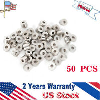 """T316 Stainless Steel 30 Degree Angled Washer for 1/8"""" 3/16"""" Cable Railing 50/set"""