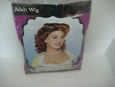 Vintage 50's Housewife Adult Red Wig Costume Accessory  Halloween-New