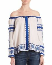 NWOT$198 LOVE SAM Anthropologie Wanda floral embroidered blouse top S, 6-8