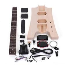 Unfinished DIY Electric Guitar Kit Basswood Body Rosewood Fingerboard Q8N3