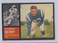 1962 Topps #5 Raymond Berry Baltimore Colts Vintage Football Card