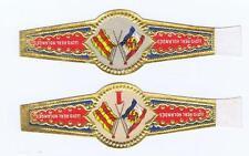 2 Lloyd Real Holandes flags  band vitolas Bauchbinden Sigarenbandje 158