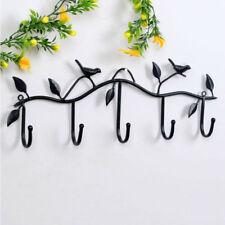 Resin Pendant Decorative Wall Towel Key Holder Metal Hook Hanger Rack 5hooks