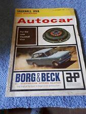 Autocar Magazine 27 September 1963 - Vauxhall Viva Full Description