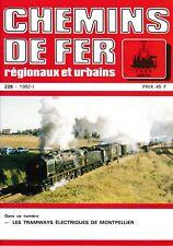CHEMINS de FER RÉGIONAUX et URBAINS - N° 229 (1992 - 1) (FACS - CFRU) (Train)