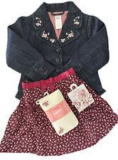 NWT Gymboree La Belle Epoque Skirt Jacket Outfit Curlies Tights Set 4 NEW