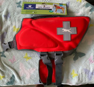 Top Paw Red Life Jacket (Size XL: Dogs 85-100 lbs) New