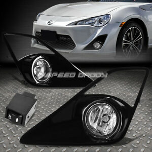 FOR 13-16 SCION FRS CLEAR LENS BUMPER DRIVING FOG LIGHT LAMPS W/BEZEL+SWITCH