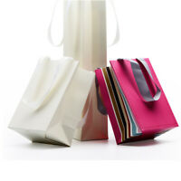 10pcs Coated Paper Pouches with Handle Gift Candy Jewelry Wedding Party Bags