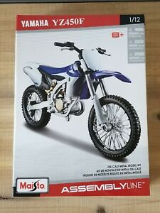🆕️ Maisto Assembly Line Die-Cast Metal Model Kit 1/12, Yamaha YZ450F Motorcycle