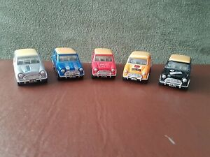 Sunnyside Mini Coopers x 5 - Pullback - Made in China - Ex Display models.