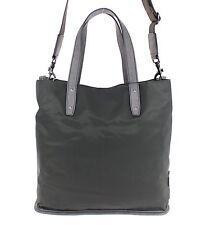 NEW $1100 DOLCE & GABBANA Mens Green Nylon Leather Gym Travel Shoulder Hand Bag