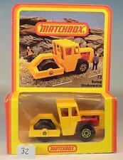 Matchbox Superfast nº 72 Bomag Road Roller amarillo alemana Hösbach nº 1 OVP #052