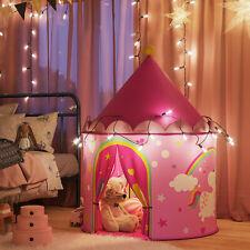 SONGMICS Tente de Jeu Enfant, Château de Princesse, Tipi Pop-up Portable LPT04PY