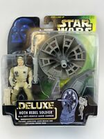 Star Wars Deluxe Hoth Rebel Soldier Figure w/ Anti-Vehicle Laser Cannon NIB