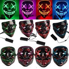 LED Glühend leuchtet Wire Horror Party Halloween Maske Kostümme Cosplay Purge