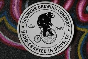 Sudwerk Brewing Company CA Bear Funny Bike Since 1989 M1 MISC MUSIC STICKER