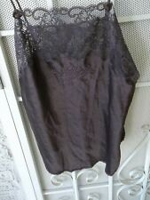 Christian Dior Brown Lacy Camisole  M