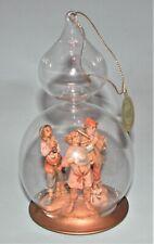 Fontanini musicians, glass dome ornament scene w 2.5 in figures Nib