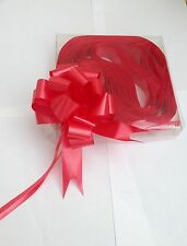 10 x 30mm Red Pull Bow Ribbon Ideal Wedding Gift Wrap Florist Hamper Basket