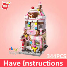 ENLIGHTEN Kids Building Street Cake Candy Shop Toys MINI Blocks Girls Puzzle