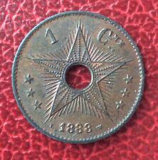 Etat Indépendant du Congo - Congo Belge - Très Joli  1 Centime 1888 (2)